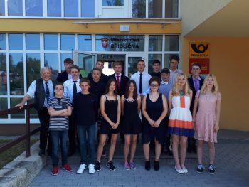 Rozloučení vycházejících žáků s představiteli města