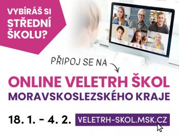 Online veletrh škol Msk kraje