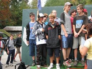 Okresní soutěž v přespolním běhu lyžařů v Břidličné